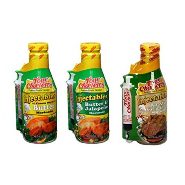 Tony Chachere Injectable Marinade Variety Pack, Butter Jalapeno ...
