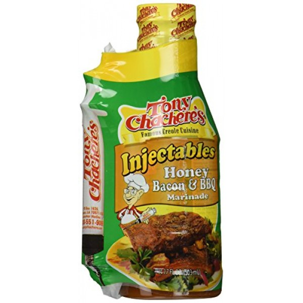 Tony Chachere Injectable Marinades with Injector, Honey Bacon BB...