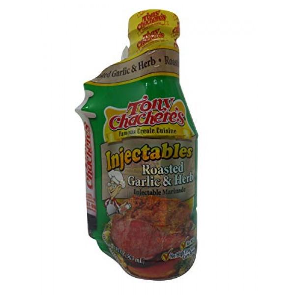 Tony Chacheres Marinade Roasted Garlic & Herb W/ Injector - 17 oz