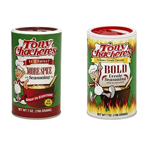Tony Chacheres No MSG Spicy Cajun Creole Seasoning Bundle - 1 e...