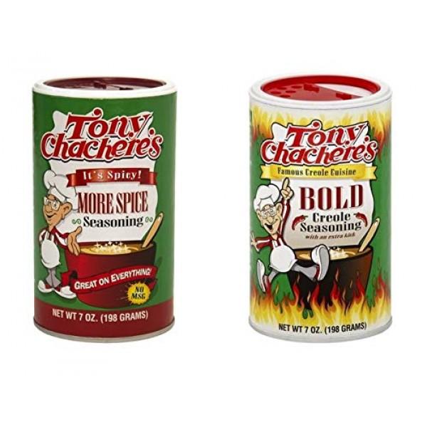 Tony Chacheres No MSG Spicy Cajun Creole Seasoning Bundle - 1 e...