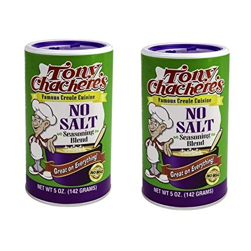 Tony Chacheres No Salt Seasoning Blend, 5 Ounce Shaker Pack of 2