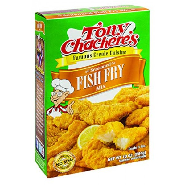 Tony Chacheres Seasoned Fish and Seafood Fry Mix, 10 Ounce Box ...