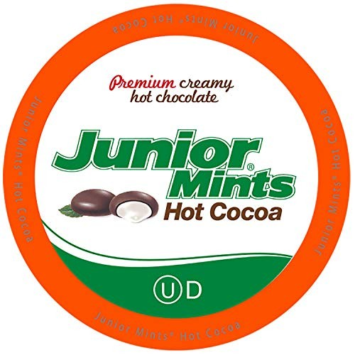 Junior Mints Chocolate Mint Hot Cocoa Pods for Keurig K-Cup Brew...
