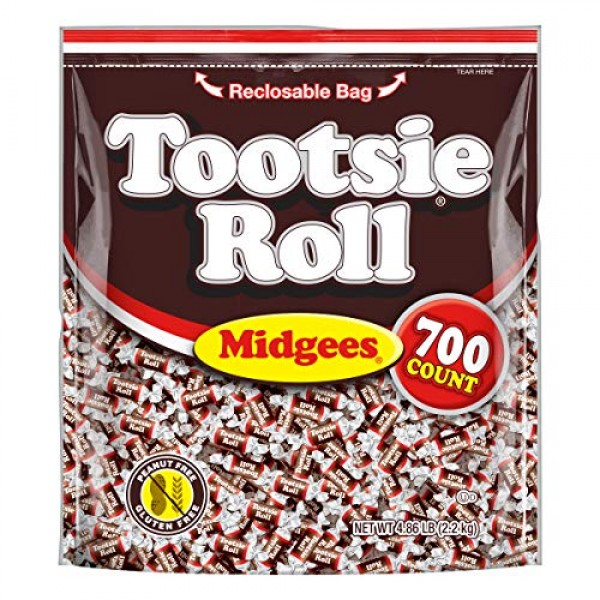 Tootsie Roll Original Chocolatey Twist Midgees, Resealable Stand...