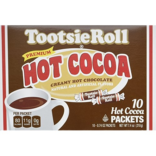 Tootsie Roll Hot Cocoa Packets, 10 Count Pack of 6
