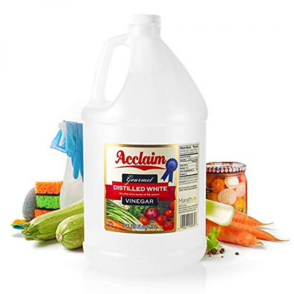 Acclaim All Natural Distilled White Vinegar, 128 Ounces 1 Gallo...