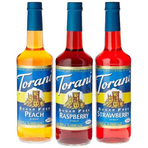 Torani Sugar Free Fruit Flavor Syrup Variety Pack - Raspberry, S...