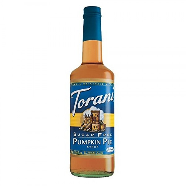 Torani Sugar-Free Syrup, Pumpkin Pie, 25.4-Ounce Bottles Pack o...