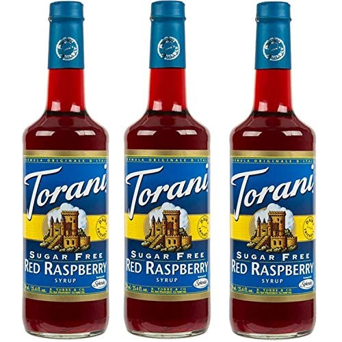 Torani 3 Pack Sugar Free Red Raspberry
