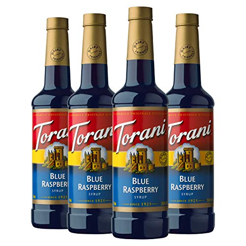 Torani Syrup, Blue Raspberry, 25.4 Ounce Pack of 4