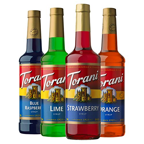 Torani Syrup Variety Pack, Soda Flavors, 4 Count