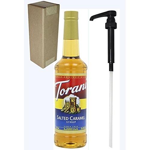 Torani Salted Caramel Flavoring Syrup, 750mL 25.4 Fl Oz Glass ...