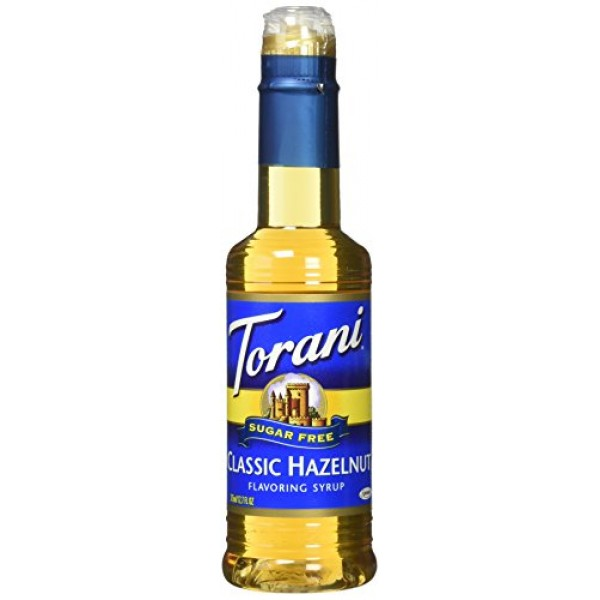 Torani Sugar Free Classic Hazelnut Syrup 12.7 ounce