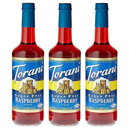 Torani Sugar Free Raspberry 750 mL pack of three
