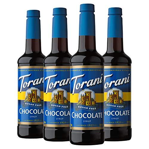 Torani Sugar Free Syrup, Chocolate, 25.4 Ounces Pack of 4