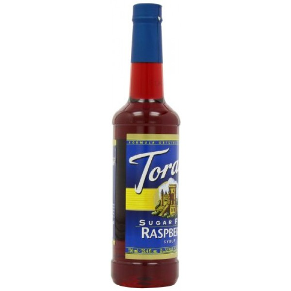 Torani Sugar-Free Syrup, Raspberry, 25.4-Ounce Bottles Pack of 3