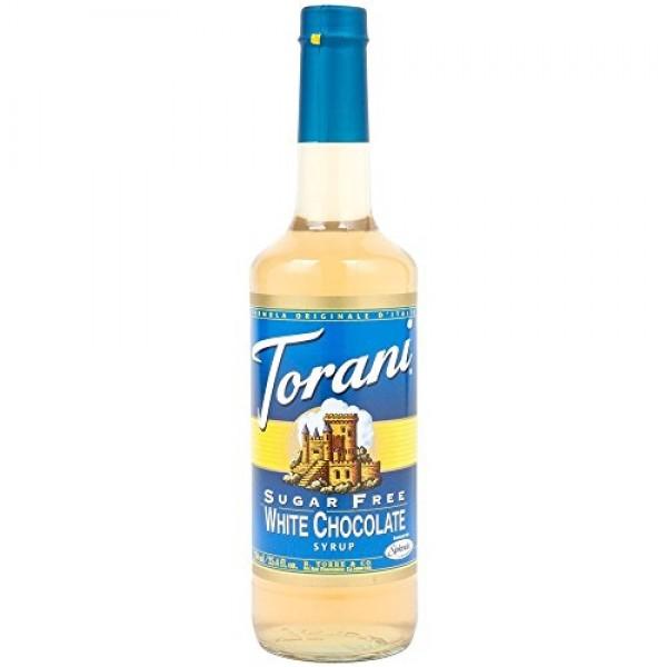 Torani Sugar Free White Chocolate Syrup 25.4-ounce Bottles Pack...