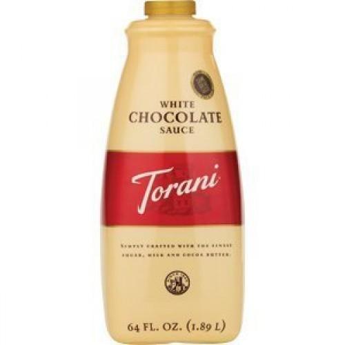 Torani White Chocolate Sauce - Case of 4 64oz bottle