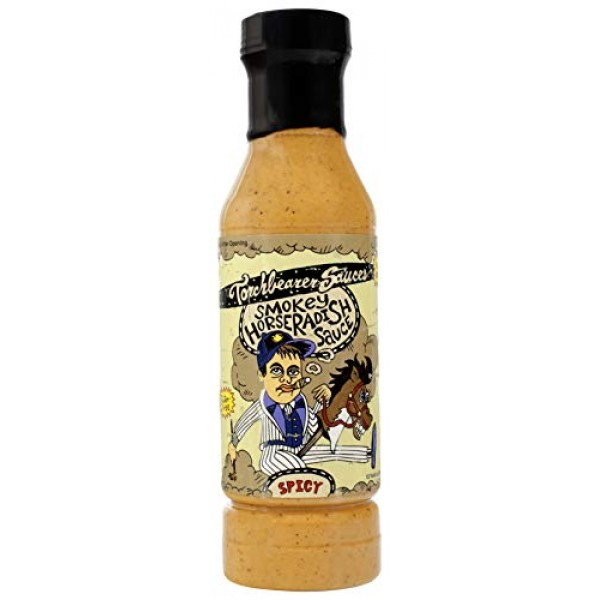 Torchbearer Sauces Smokey Horseradish Sauce 12 Oz - All Natural,...