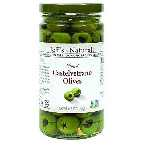 JEFFS NATURAL, OLIVES, PITTED, CASTELVTRNO - Pack of 6