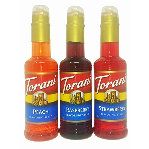 Torani Syrup Fruit Flavors 3-Pack, Raspberry, Strawberry and Pea...