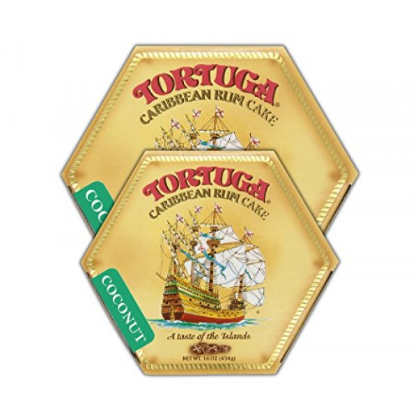 Tortuga Caribbean Coconut Rum Cake, 16-Ounce Box - Pack of 2
