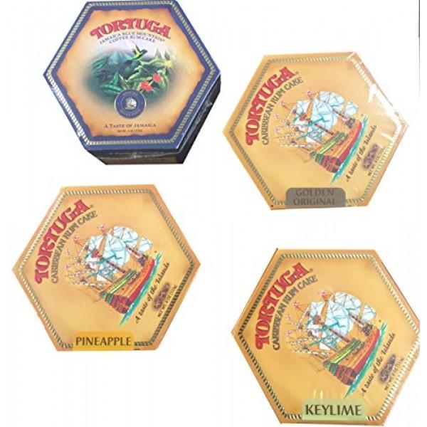 Tortuga Caribbean Rum Cake 4 Pack Assortment- Original, Keylime,...