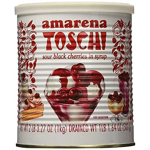 Toschi Amarena Black Cherries in Syrup, 2 LB 3.27 Oz