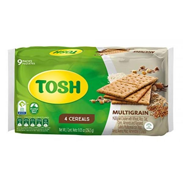Tosh Multigrain Crackers | Wheat, Rice, Oat, Corn, Almonds & Fla...