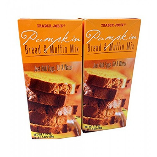 2 Pack Trader Joes Pumpkin Bread & Muffin Mix 17.5 oz