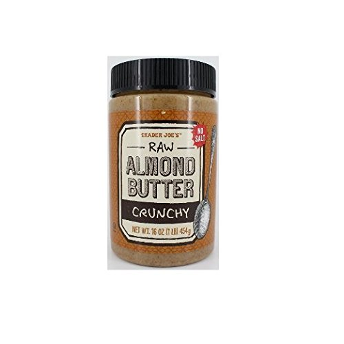 2 Packs Trader Joes Almond Butter Raw Crunchy Unsalted 16 Oz