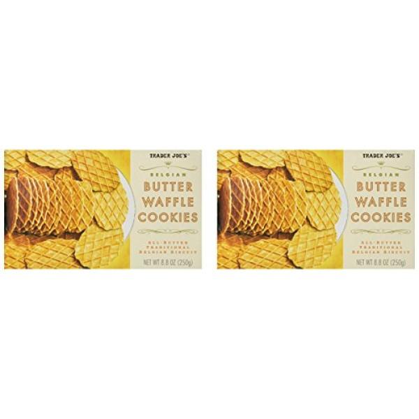2 Packs Trader Joes Belgian Butter Waffle Cookies