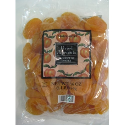 2 Packs Trader Joes Dried Apricots 1 Lb Bags