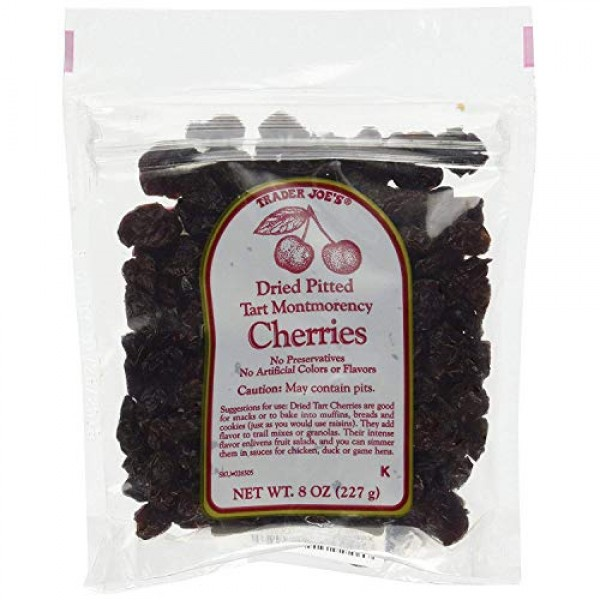 2 Packs Trader Joes Dried Pitted Tart Montmorency Cherries