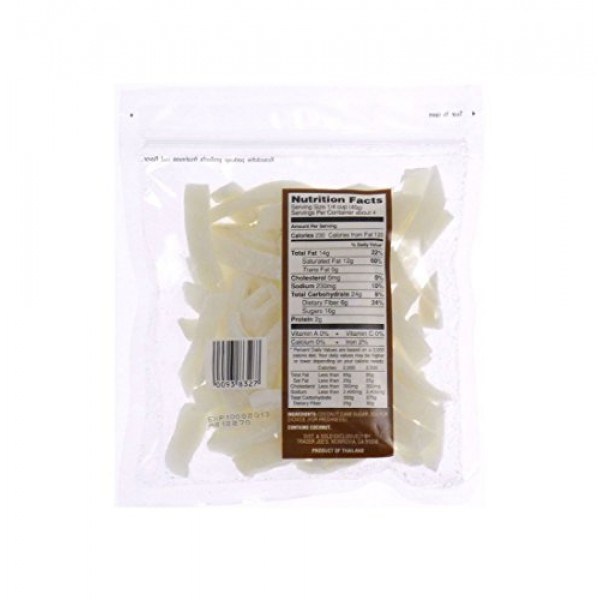 3 Pack Trader Joes Dried Fruit Coconut Strips Lightly Sweetened