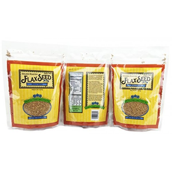 3 Pack Trader Joes Golden Roasted Flax Seeds Whole Seeds