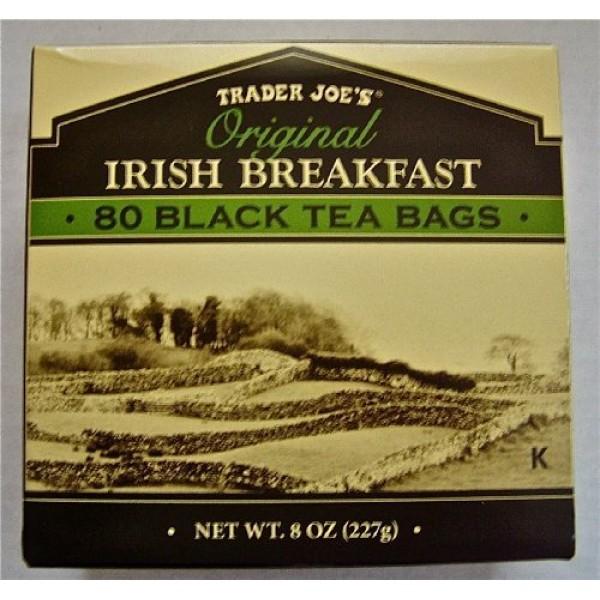 4 X Trader Joes Original Irish Breakfast Tea 80 Black Tea Bags...