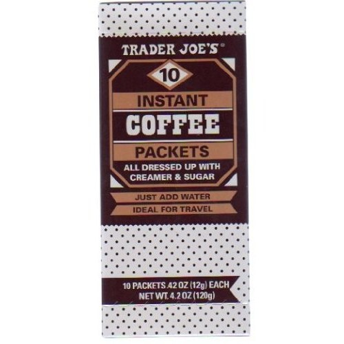 Trader Joes Instant Coffee Packets w. Creamer & Sugar 10 packe...