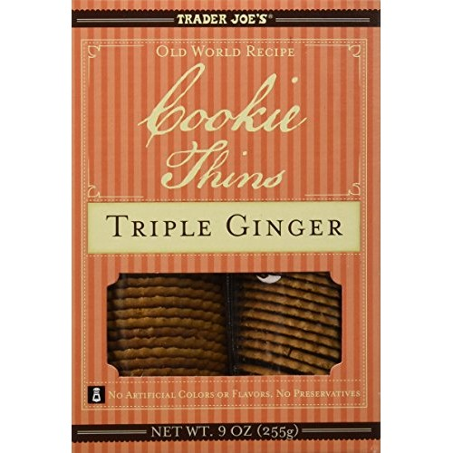 Trader Joes Cookie Thins Triple Ginger 9 oz