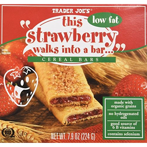 Trader Joes This Strawberry Walks Into a Bar Cereal Bars (Low F...