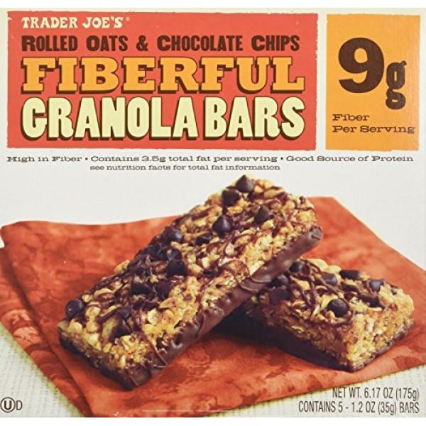 2 Boxes Trader Joes Fiberful Granola Bars Rolled Oats & Chocola...