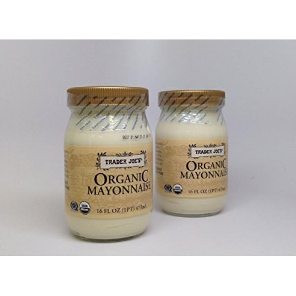 Trader Joes Organic Mayonnaise Pack of 2 16-oz Jars