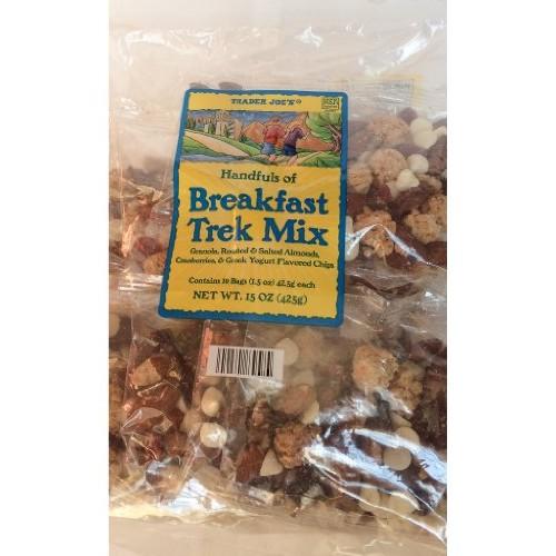 Trader Joes Breakfast Trek Mix, 1 bag with 10 1.5-oz packs