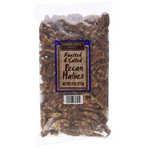 Trader Joes Roasted & Salted Pecan Halves (8 oz)