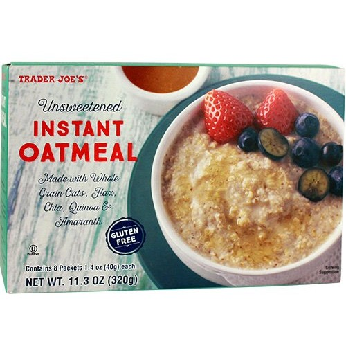 Trader Joes Instant Oatmeal. 11.3 OZ Pack of 1