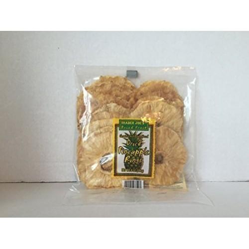 Trader Joes Dried Pineapple Rings 8 oz ( pack of 1)