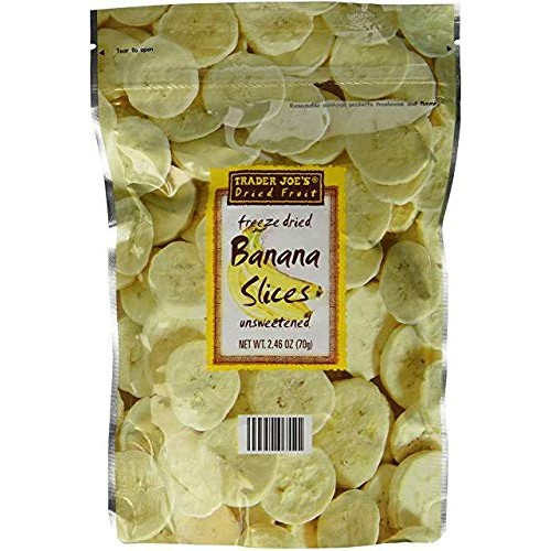Trader Joes Freeze Dried Banana Slices 2.46 oz Pack of 3