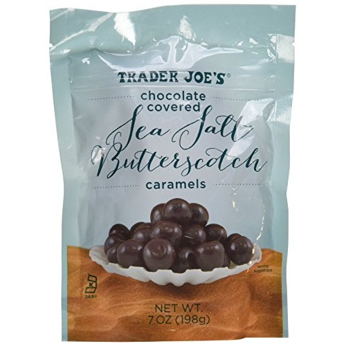 Trader Joes Chocolate Covered Sea Salt Butterscotch Caramels 7oz