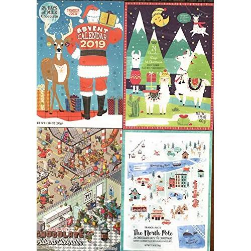 Trader Joes Christmas 2019 Milk Chocolate Advent Calendar Bundl...